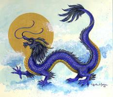 Nikki's Blue Dragon by Foxfeather248