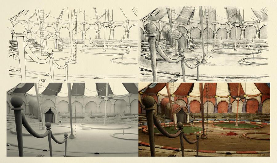 Circus Process Shot2 by piratesofbrooklyn