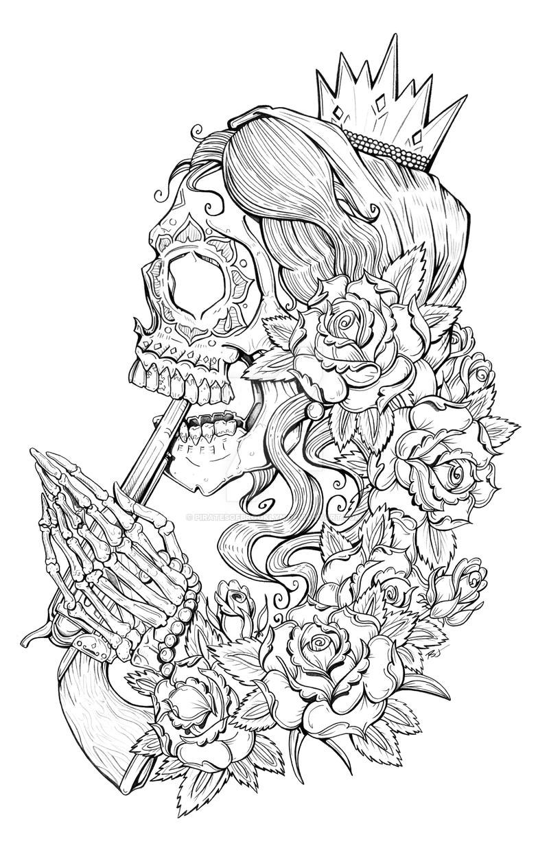 Suicide Sin Lineart by piratesofbrooklyn