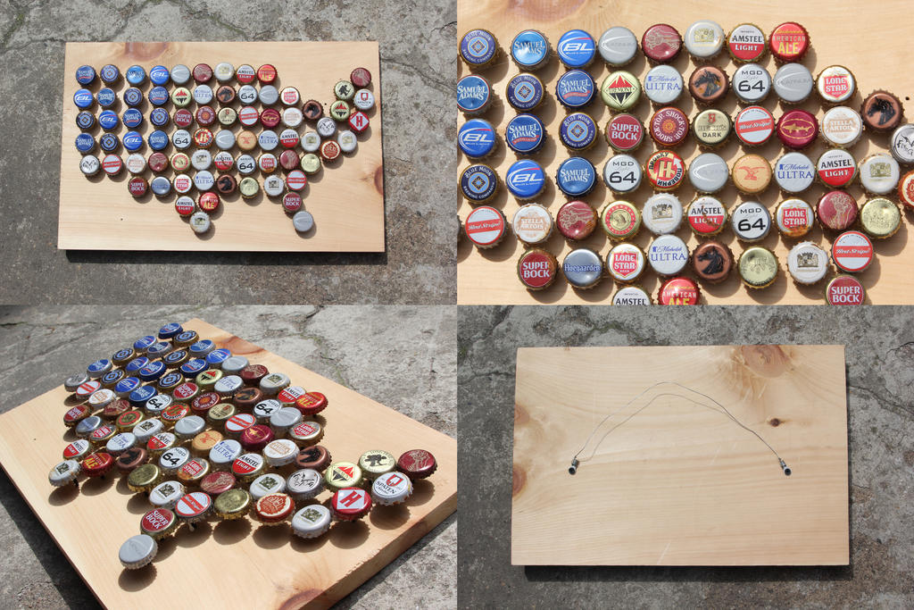 United States Bottle Cap Map by piratesofbrooklyn on DeviantArt