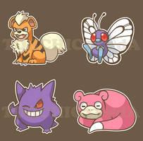 Pokemon Sticker Sheet 3 by spiffychicken