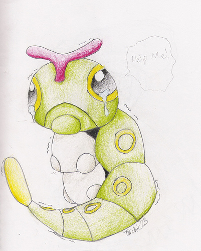 Caterpie by spiffychicken
