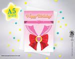 SAILOR CHIBI MOON Birthday Greeting Card by Stavri-Symeonidou
