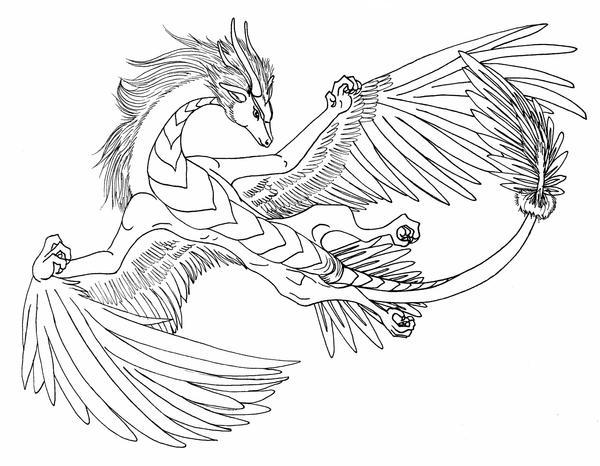 Air dragon by deerdandy on deviantart - Dessin de tete de dragon ...