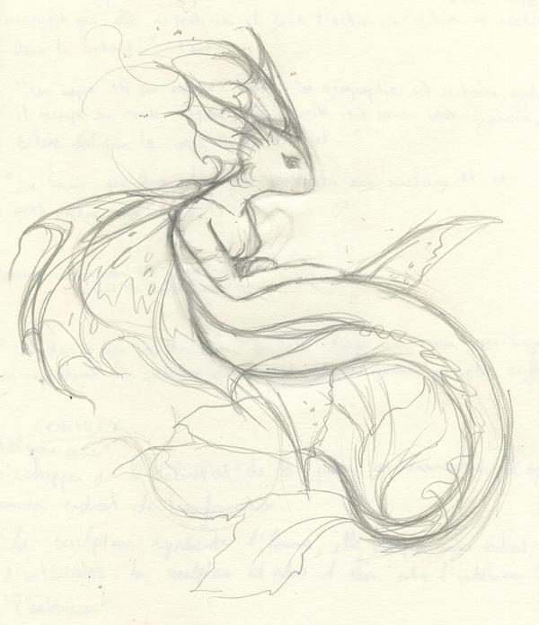Sad Mermaid -sketch- by Mermaid Sketch