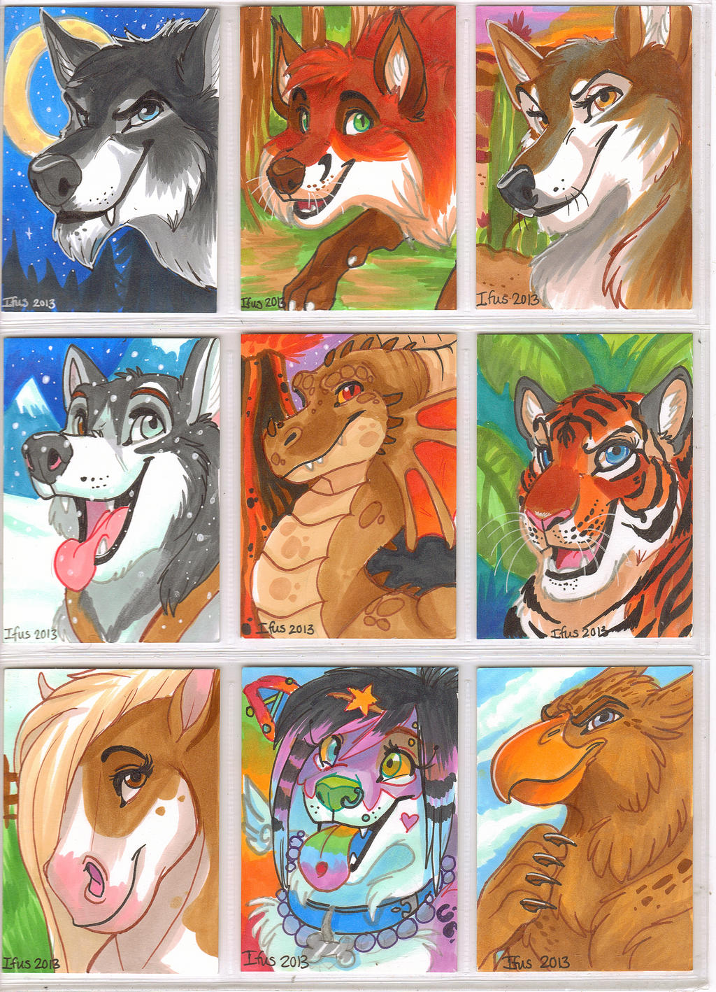 Premade Furry Con Badges- Page 1 by Ifus