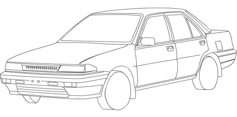 Line Art Car : My car line art by leetghostdriver on deviantart