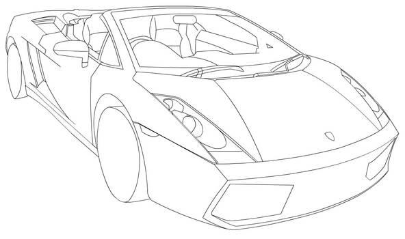 Lamborghini  line-art