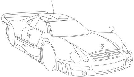 Mercedes CLK-GTR line-art