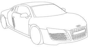 Audi R8 line-art