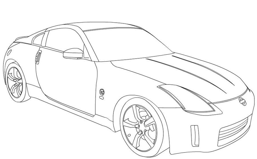 Line Drawing Nissan Gtr : Nissan r gtr coloring pages