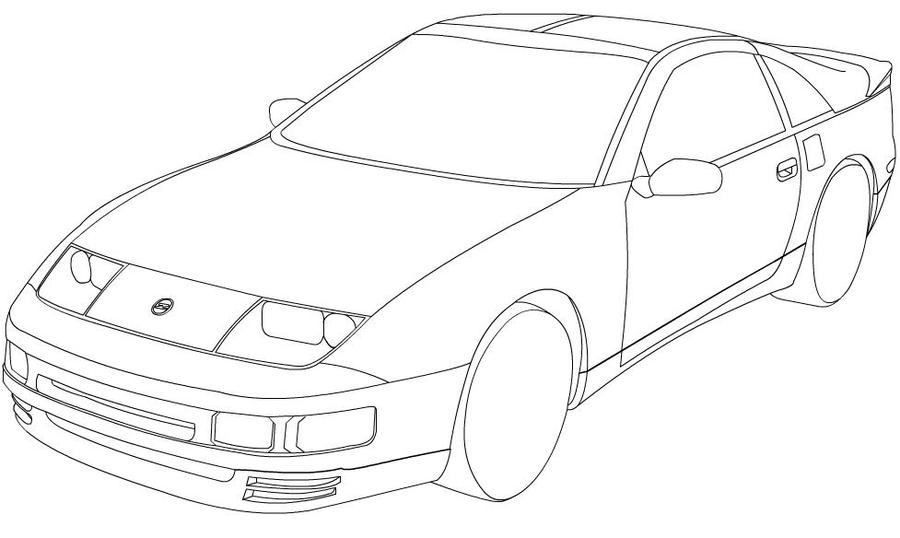 nissan 300zx drawing