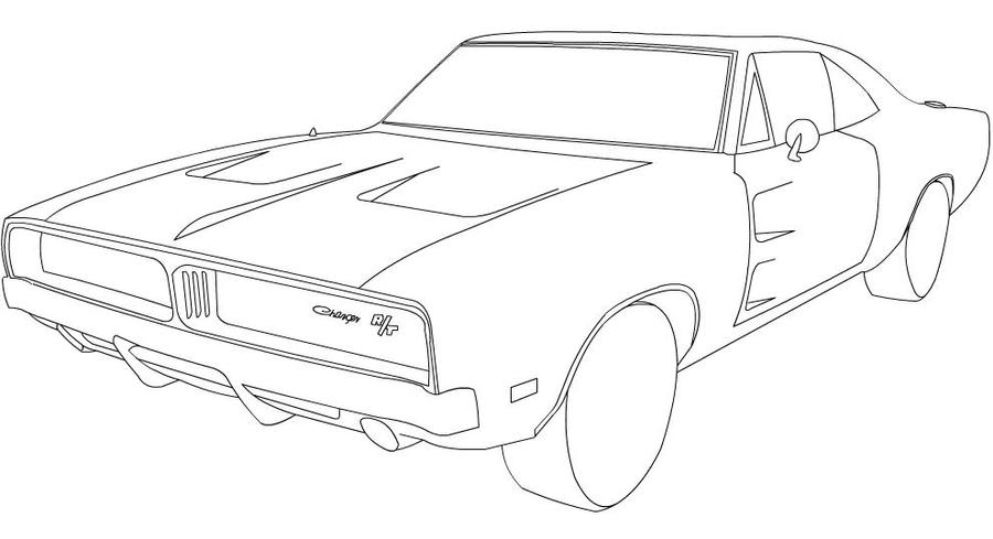 1969 Dodge Charger Drawings Charger line art by
