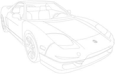 Acura NSX line-art