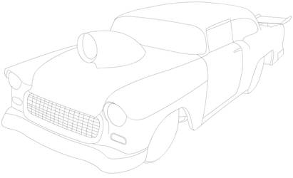 LA - 1955 Chevy Pro Sportsman