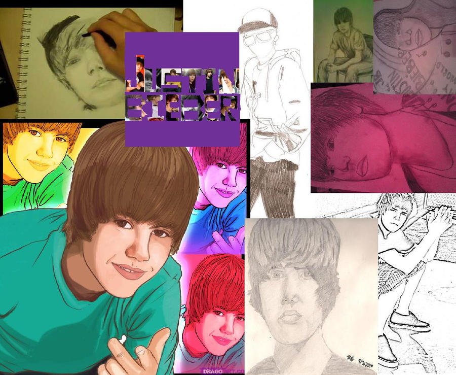 justin bieber collage backgrounds. Justin Bieber collage by