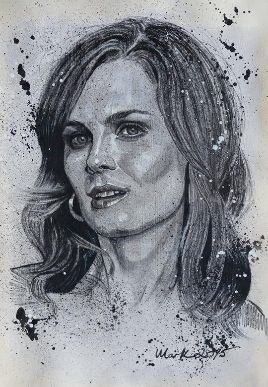 Emily Deschanel by Mark-Duffy