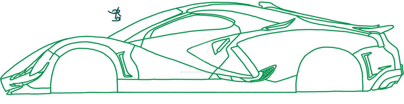Supercar Sketch Update By Darkaiz On Deviantart