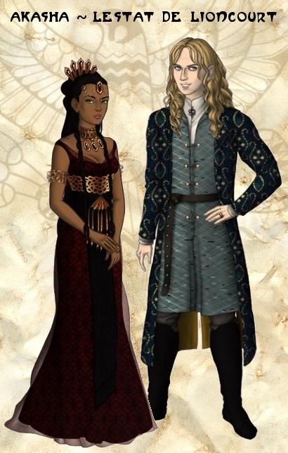 Queen Akasha and Lestat de Lioncourt by VivianeLeFay