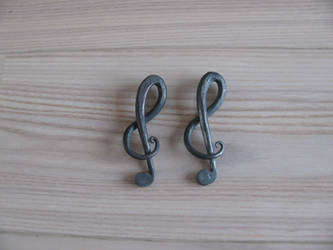 Treble clef keyring by JustJ20