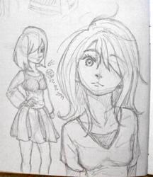 I can't believe I drew a girl/girls