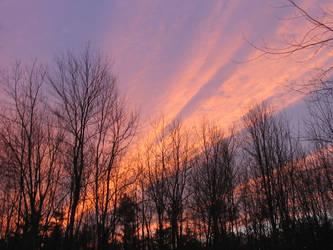 Winter Sunset by InsaneSonikkuFan