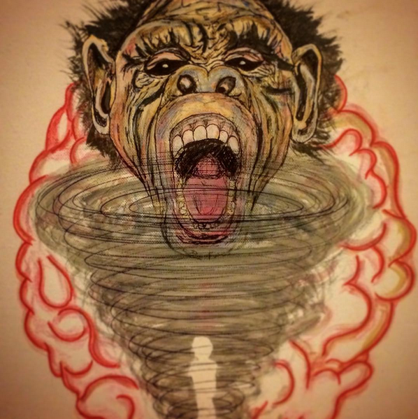 Chimp Brain by gilzfoolzgold