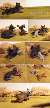 wolf sculptures by akreon