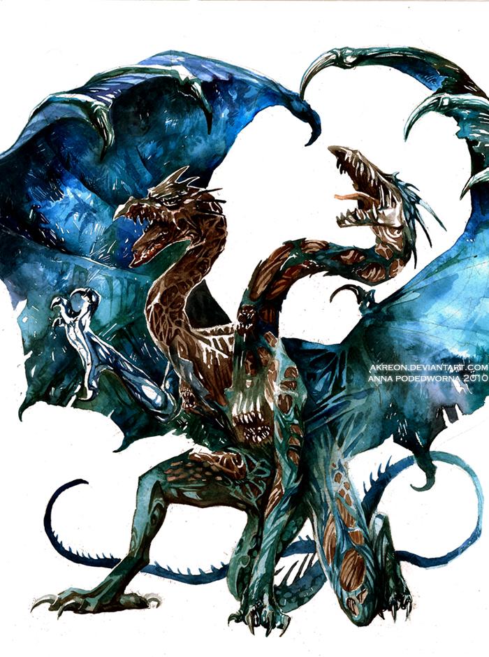 Two-headed beast by akreon