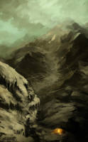 mountain camp by akreon