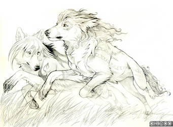 running wolves by akreon