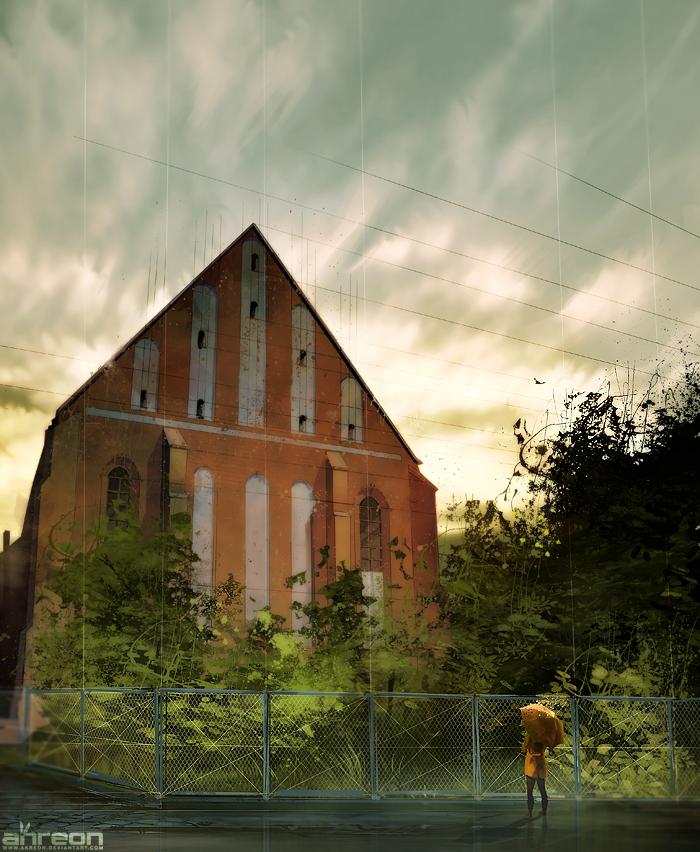 Forgotten Church by akreon