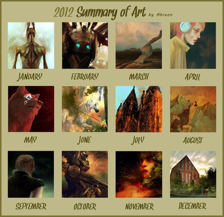 2012 summary of art by akreon