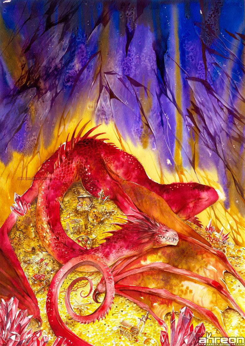 Smaug's Lair by akreon