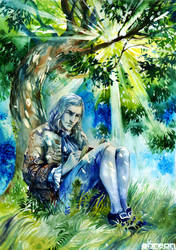 under the tree by akreon