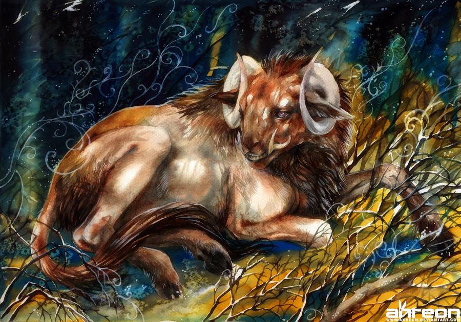 Resting beast by akreon