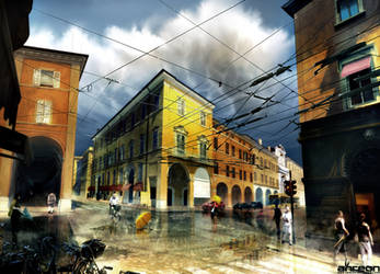 Rain Over Via Emilia by akreon