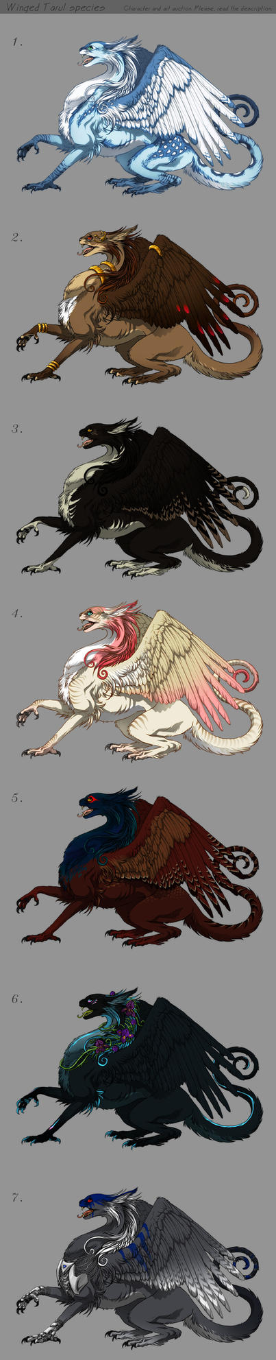 Winged Tarul - Adoptables CLOSED by akreon