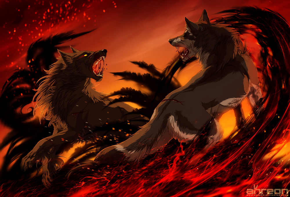 Fire and Smoke by akreon