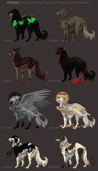 Evil Borzoi Adoptables - character auction CLOSED