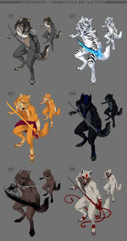 Werewolves - character and art auction CLOSED by akreon