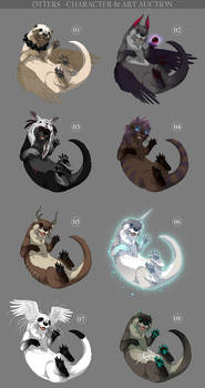 Otters - character and art auction CLOSED