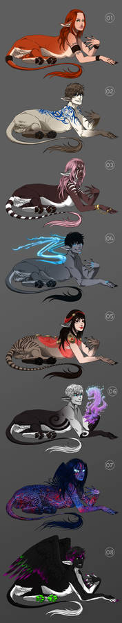 Sphinxes - character and art auction - CLOSED