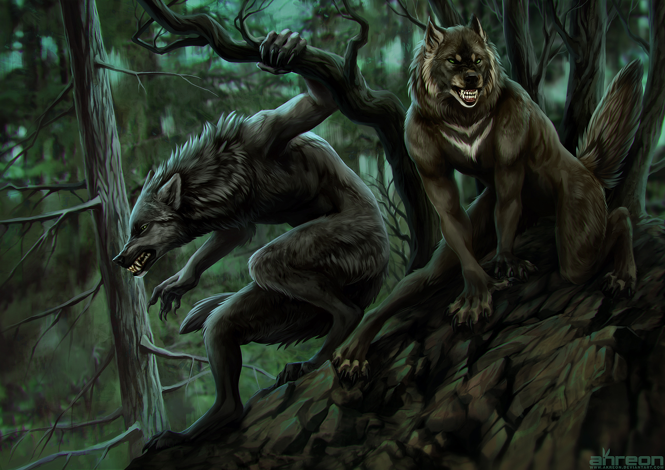 werewolves on the prowl by akreon on DeviantArt