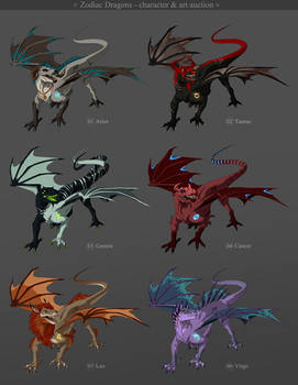 Zodiac Dragons - character and art auction CLOSED