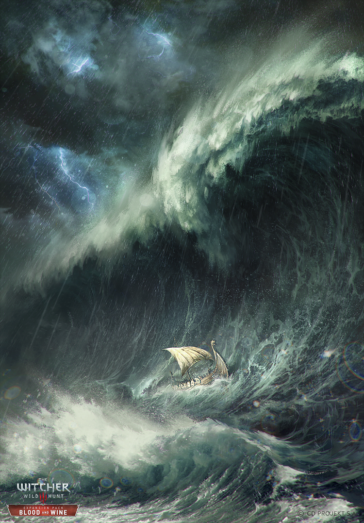 Skellige Storm  - Gwent card by akreon