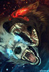 Hati vs Skoll by akreon