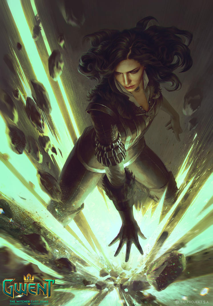 Yennefer  - Gwent card by akreon