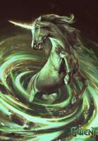 Unicorn - Gwent Card by akreon