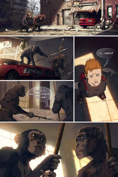 Planet of the Apes comic page